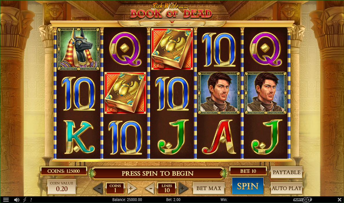 Book of Dead Mobile Casino Slots