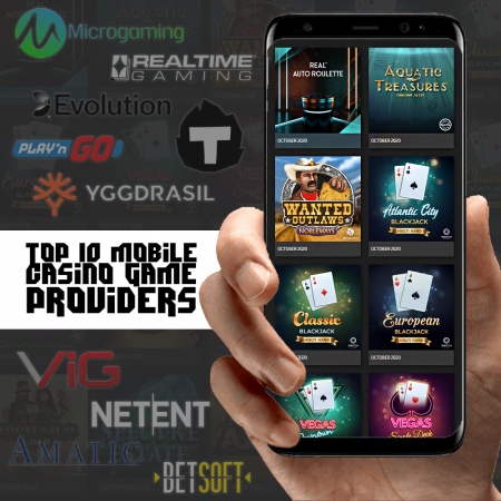 Top 10 Mobile Casino Game Software Providers