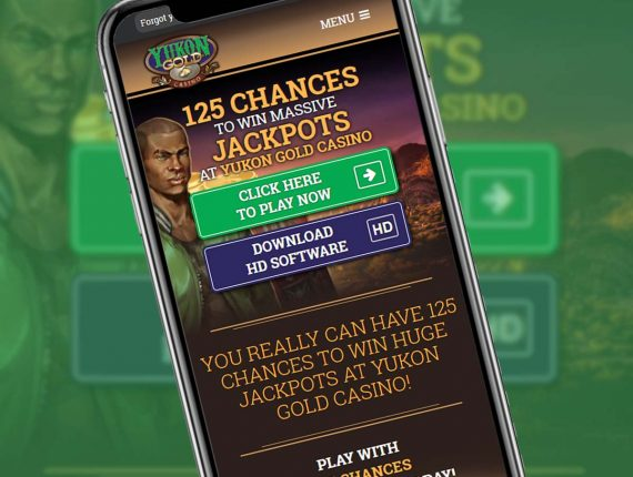 Yukon Gold Casino on your Mobile Device