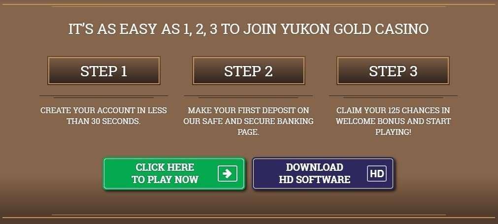 Pendaftaran Kasino Emas Yukon